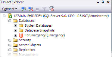 confirm emergency status in ssms