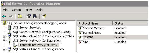 open ssms and check the sql server network configuration protocols