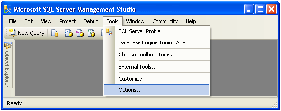 there are several options in ssms for diplaying query results