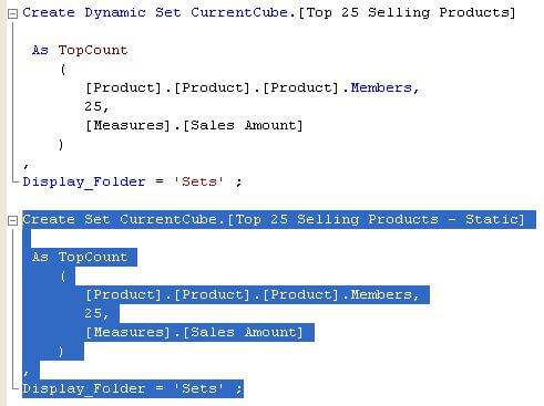 dynamic named sets were introduced with sql server 2008