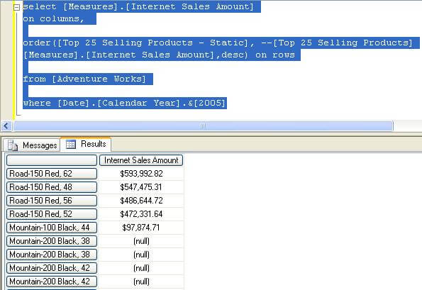 execute the query using the static set along with a filter criteria