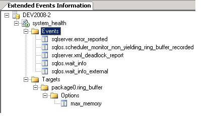 in ssms view the system_health session