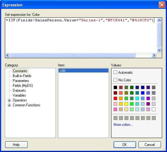 enter the expression for color in the emptypoint properties