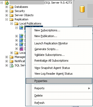 the snapshot agent job in sql server