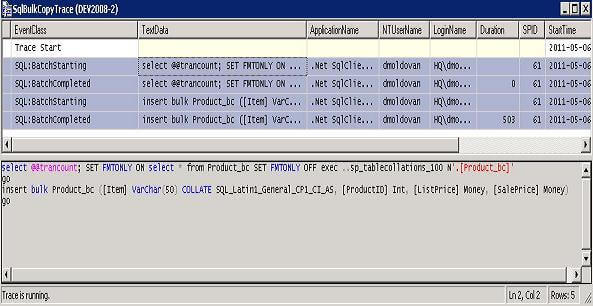 sql server will check the table stucture