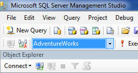 in a query window in ssms you can change the database
