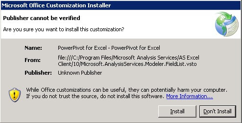 microsoft customization installer