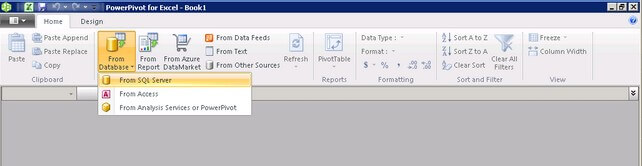 importing data from a sql server database