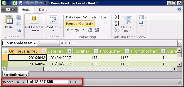 the powerpivot add in gives you the capability to load millions of records