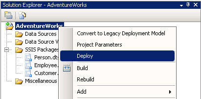 redeploying a ssis project