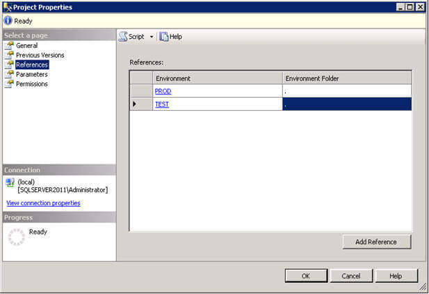enviroment reference in deployed ssis project