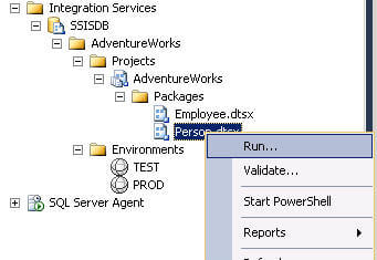 executing deployed ssis project/package