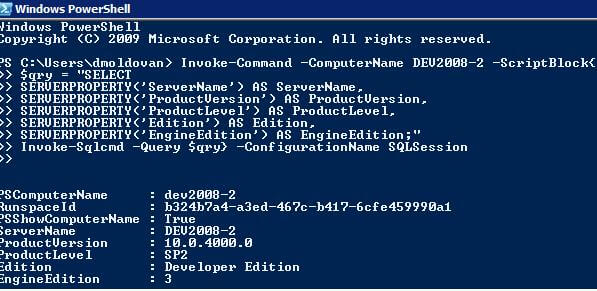 PowerShell Example Output