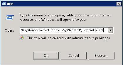 Create a 32-bit DSN on 64-bit machine for SQL Server