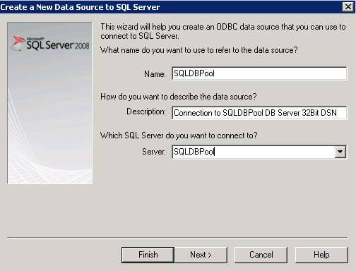 Create a 32-bit DSN on 64-bit machine for SQL Server