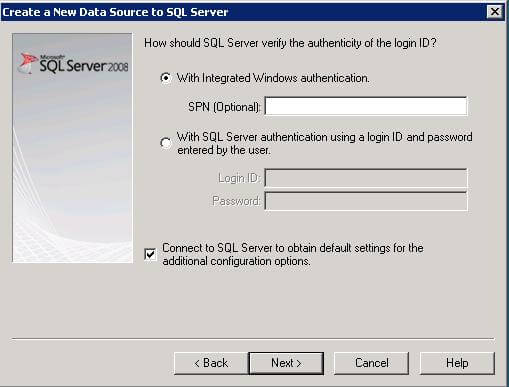 create new data source sql server