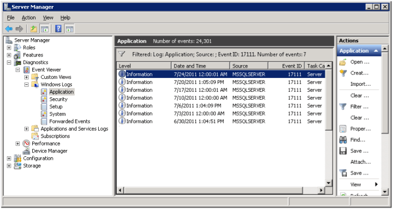 Identify location of the SQL Server Error Log file
