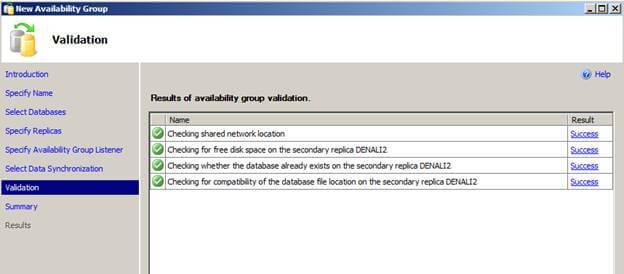 validate sql server alwayson setup