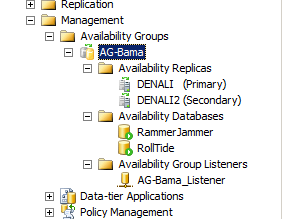 ssms availability groups