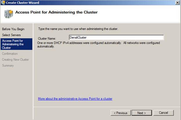 cluster access point configuration