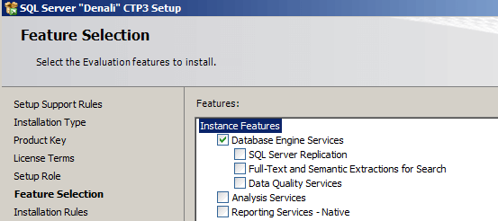 sql server features