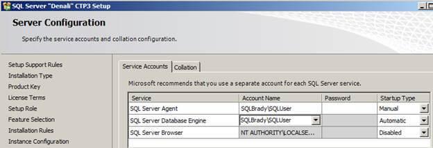 sql server configuration setup