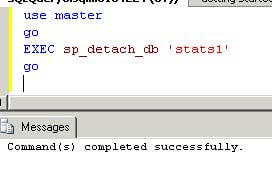 sql server sp_detach_db command