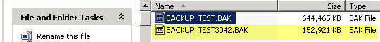 backup compression sql