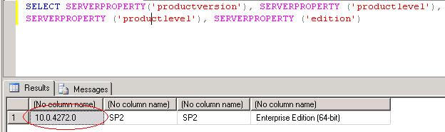 sql server version edition information