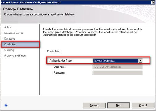 ssrs credentials configuration