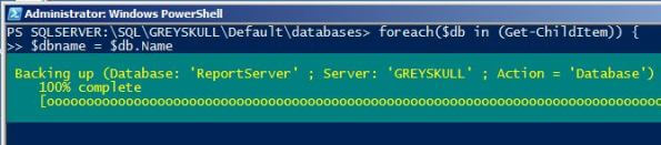 windows powershell run a sql server backup using Backup-SqlDatabase