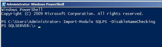 windows powershell Import-Module SQLPS -DisableNameChecking