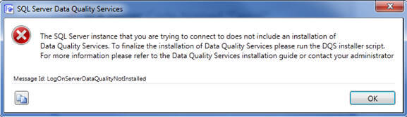 data quality services error