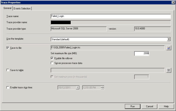 Setting up Profiler Trace