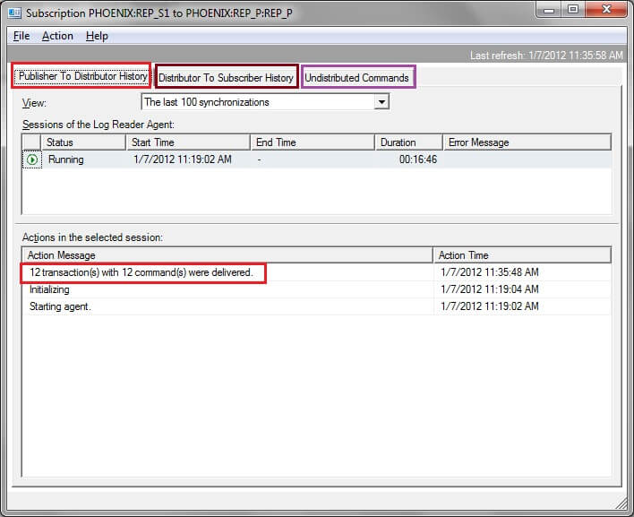 Determine data latency between Publisher and Subscriber in SQL Server  Transactional Replication