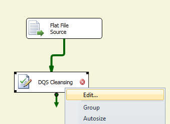drag Data Cleansing component from the Toolbox on to the data flow pane