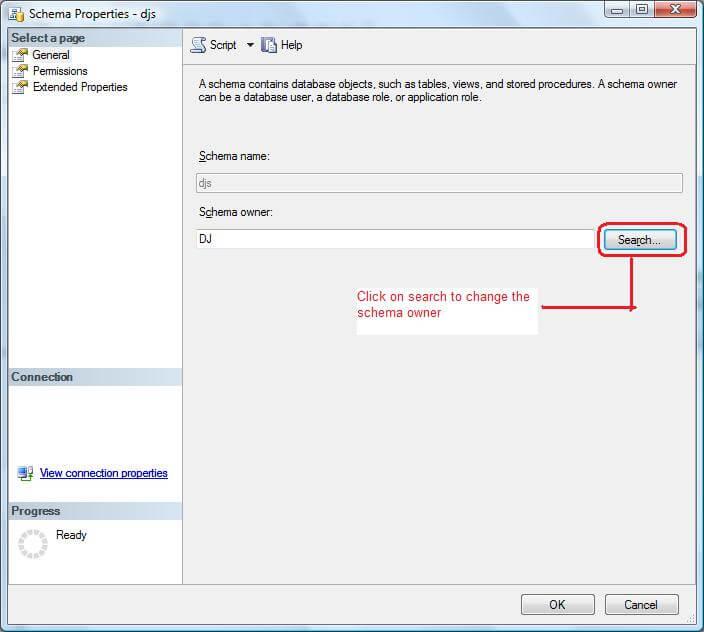 ssms change schema owner