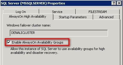 AlwaysOn High Availability tab in SQL Server Management Studio