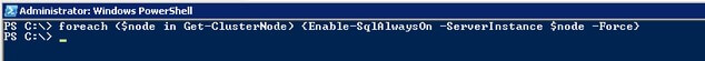 enable AlwaysOn Availability Groups on all the default SQL Server 2012 instances in my Windows Failover Cluster