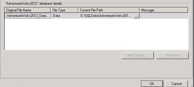 ssms remove delete log file for attach
