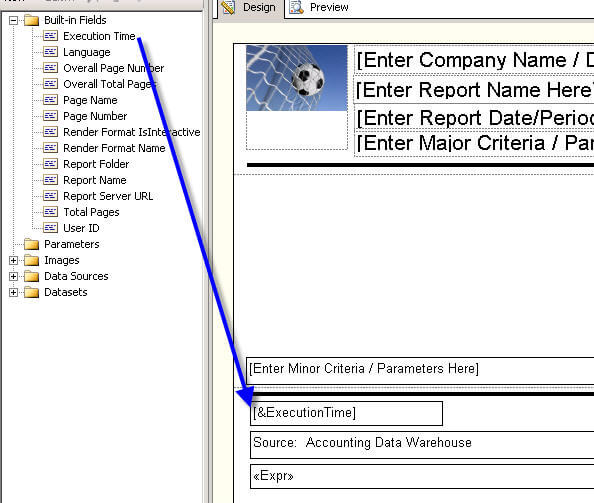 Creating a reporting service report template with all the report template objects added we can go ahead and preview the report to be sure it looks as expected pronofoot35fo Gallery