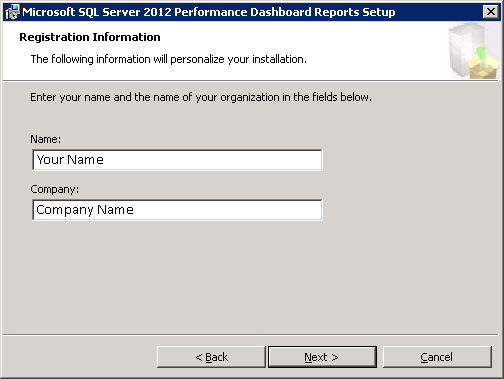 Microsoft SQL Server 2012 Performance Dashboard Reports Registration Information