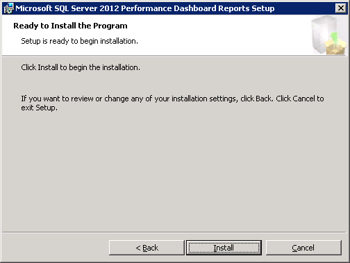 Microsoft SQL Server 2012 Performance Dashboard Reports Installation