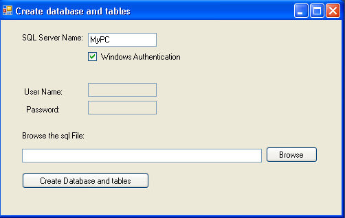 Select the SQL Server Name