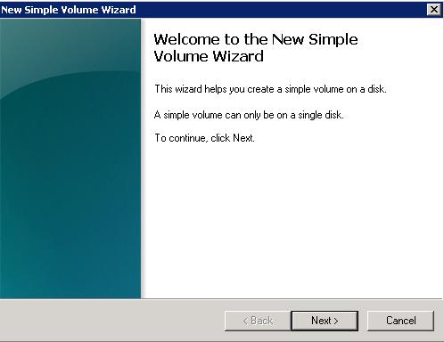 SimpleVolumeWizard