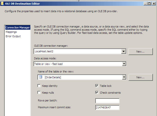 Importing SQL Server Data Using SSIS - Which Option is Fastest