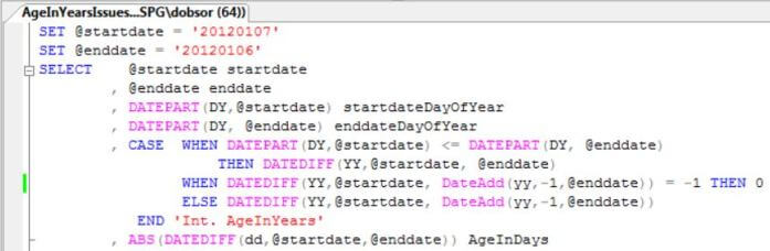 wrap the DATEDIFF function inside an ABS function