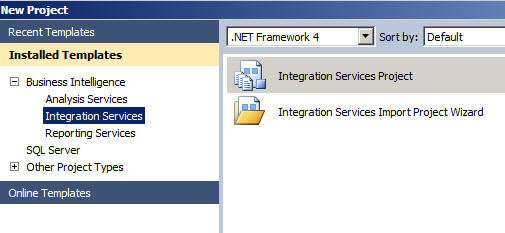 Create an Integration Services Project
