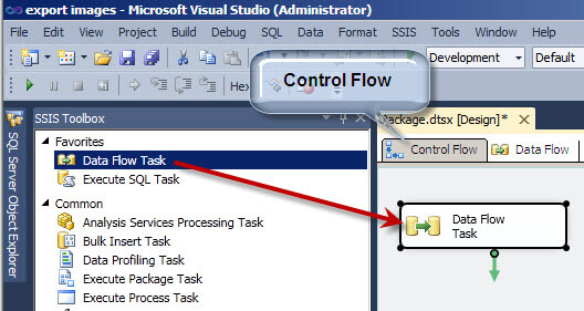 Add a Data Flow Task in SSIS