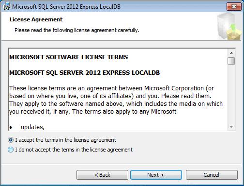 SQLLocalDB installer